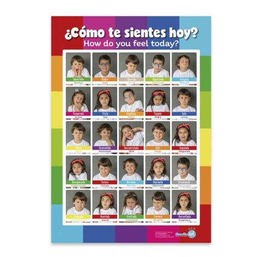 afiche de las emociones faces