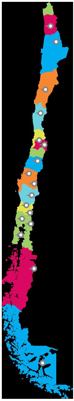 Mapa distribuidores Chile